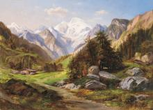Telepy Károly (1828-1906): In the valley, 1901