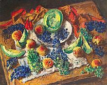 Basch Andor (1885-1944) - Still life with grapes, 1940