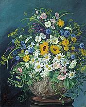 Zsolnay Júlia (1856-1950) - Still life with flowers, 1920