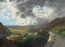 Telepy Károly (1828-1906) - Gloomy landscape