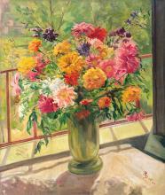 Mattyasovszky Zsolnay Júlia (1856-1950): Flower Still-life, 1932