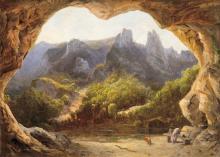 Telepy Károly (1828-1906): Detail of Mechadia (Cave)