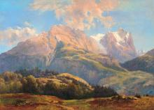 Telepy Károly (1828-1906): The Tatras, 1887