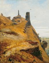 Telepy Károly (1828-1906): Ruins of the Szigliget Castle
