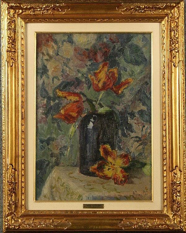 NIVOULIES MARIE - Francia, 1879-1968. Dipinto olio