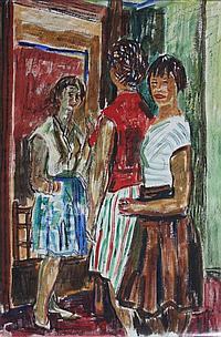 Een aquarel, Charles Tcherniawsky (1900-1976). 'La