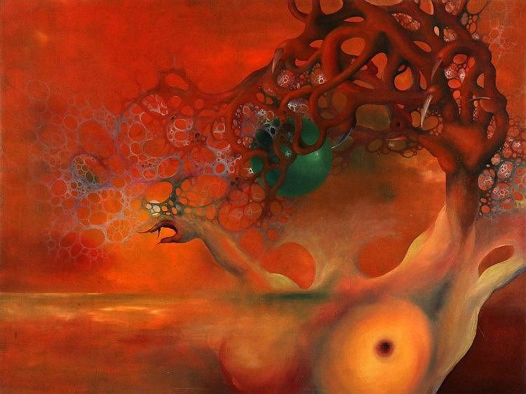 Gerbrand Bierenga (1946-)   'Abraxas'. Not signed. Doek 59 x