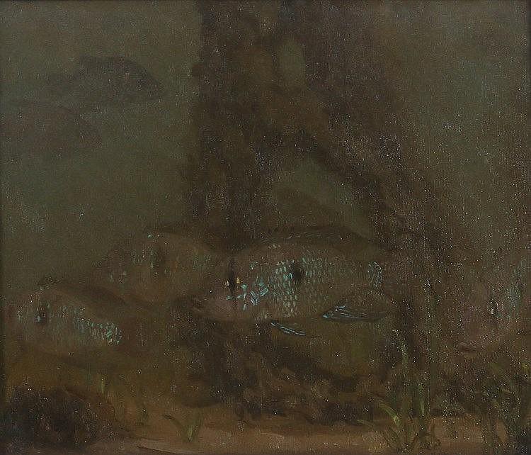Gerrit Willem Dijsselhoff (1866-1924)   'Parelmoervissen'. Si