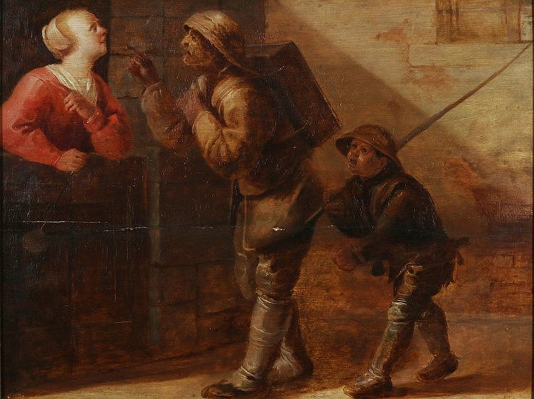 Jan van de Venne (1616-1651)  A chimney sweep and his help g