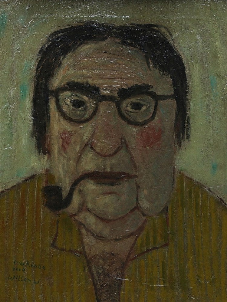 Willem Westbroek (1918-1998) A portrait of the artist Louis van R
