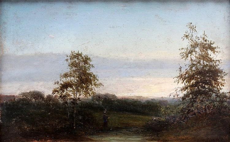 Toegeschreven aan Cornelis Lieste (1817-1861) Landscape with a fi