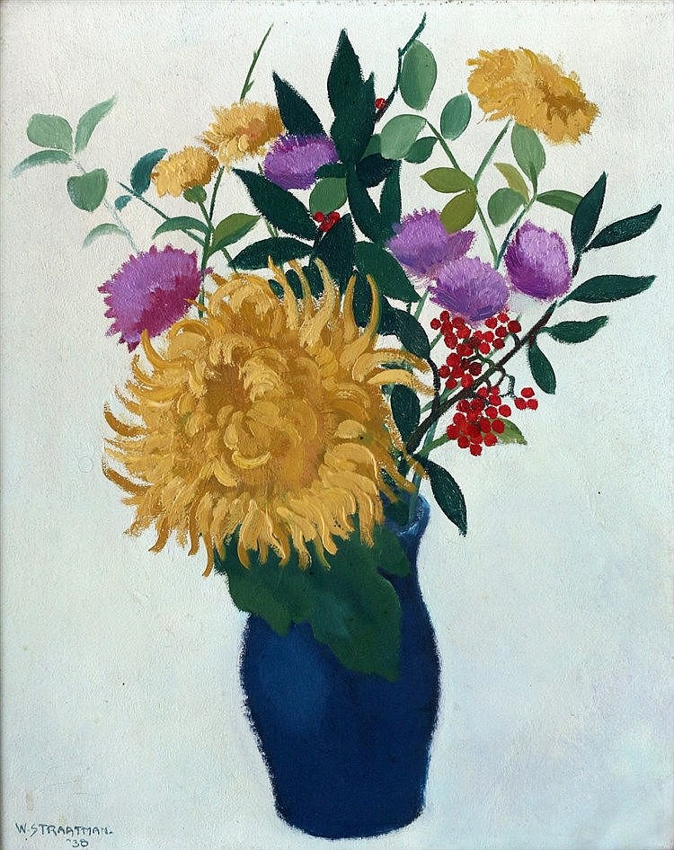 Wim Straatman (1913-2002) A flower still life. Signed and dated '