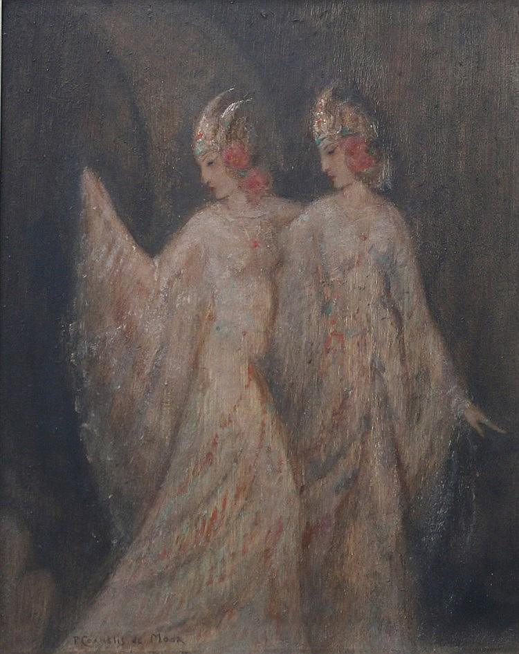 Pieter Cornelis de Moor (1866-1953) 'Danseressen'. Signed lower
