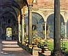 D.J. Hazelzet (1889-1953) Monastery garden. Signed lower right. N, Dirk-Jan Hazelzet, €0
