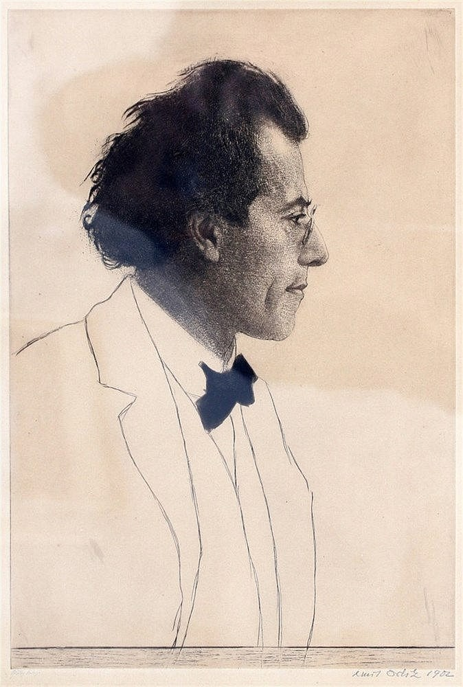Emil Orlik (1870-1932) The composer Gustav Mahler. Signed and dat