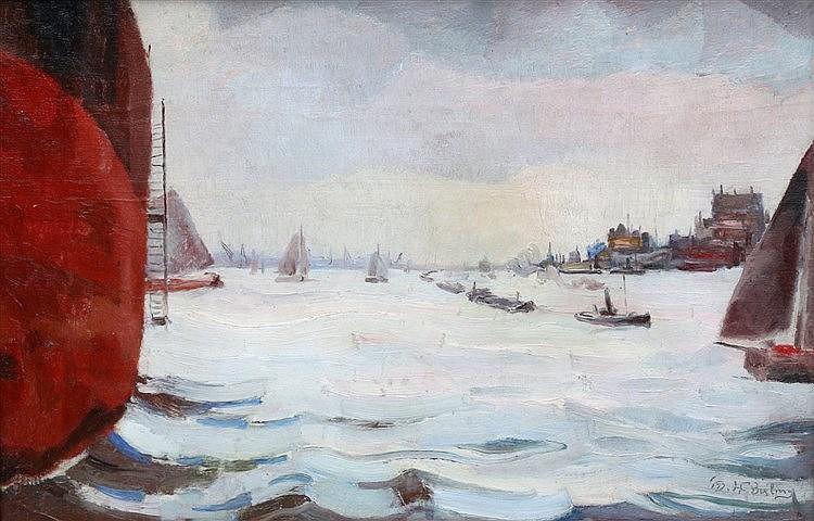 Herman Bieling (1887-1964) Liggende boeg'. Signed and dated '18 l
