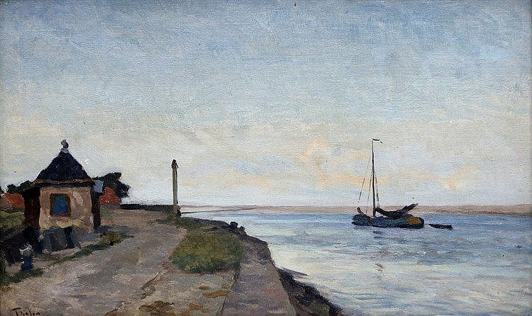 Willem Bastiaan Tholen (1860-1931) View of Krabbersgat near Enkhu