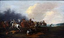 Jan Jacobsz. van der Stoffe (1627-1690) Battle with cavalry. Sign