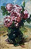 Georges Jeannin (1841-1925) Still life with roses in a vase. Sign, Georges Jeannin, €0