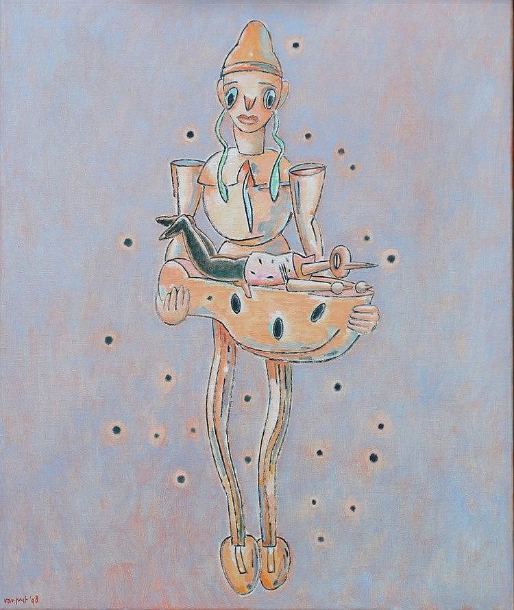 Arie van Geest (1948-) 'Zwarte sneeuw'. Signed and dated '98. Doe