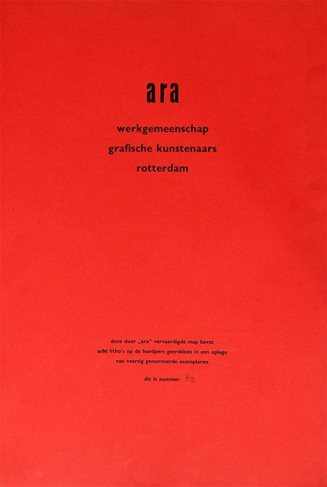 werkgemeenschap grafische kunstenaars Rotterdam Ara A collection