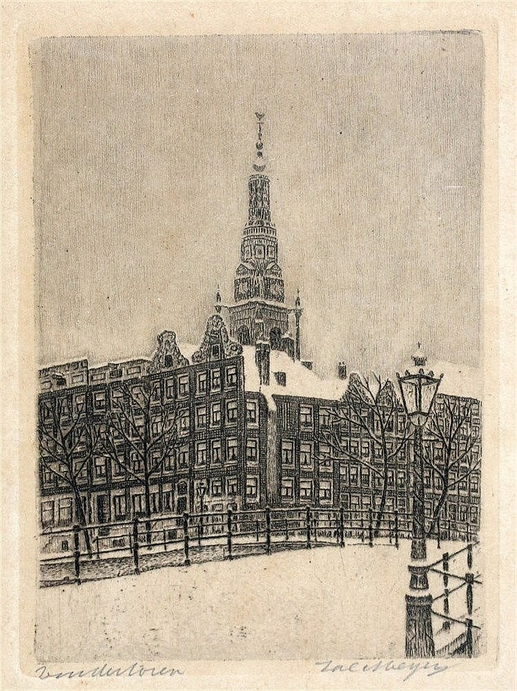 Sal Meijer (1877-1965) Zuidertoren'. Signed lower right and title