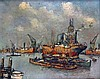 Antonie Lodewijk Koster (1859-1937) View on the harbour of Rotter, Lodewijk Koster, €0