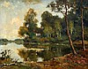 Gerard Altmann (1877-1940) Trees by a lake. Signed lower right., Gerard (1877) Altmann, €0
