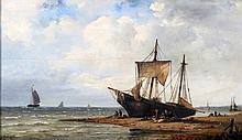Nicolaas Martinus Wijdoogen (1824-1899) A fishing boat on the bea