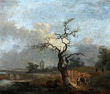 Navolger van Nicolaes Berchem (1621-1683) An Italianate landscape
