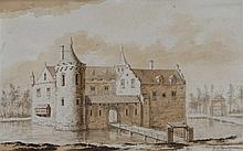 Abraham Rademaker (1675-1735) The left and front of castle Noorde