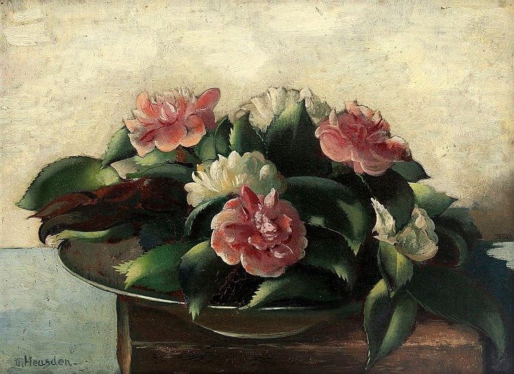 Wout van Heusden (1896-1982) Still life with flowers. Signed lowe