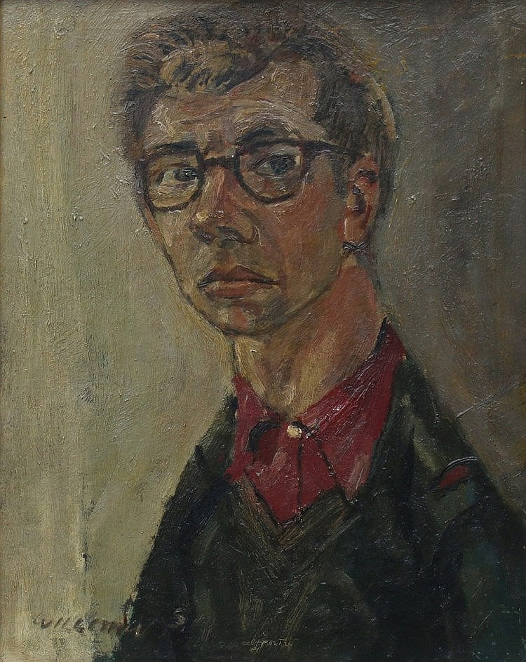 Willem Westbroek (1918-1998) A self portrait. Signed and dated '5