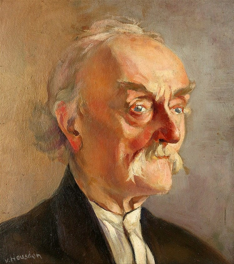Wout van Heusden (1896-1982) Portrait of an old man. Signed lower