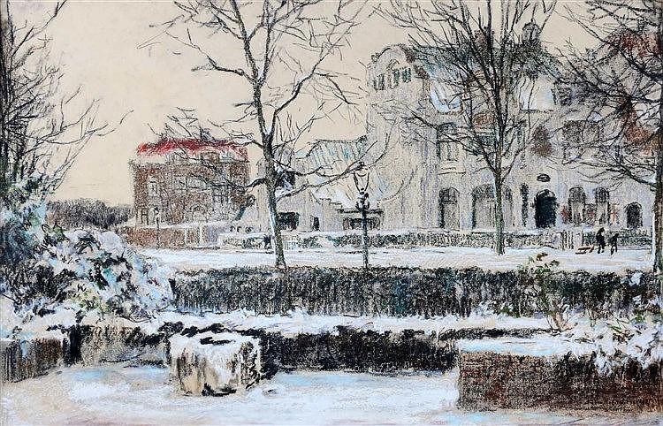 Johan Hendrik van Mastenbroek (1875-1945) View from my house'. Si