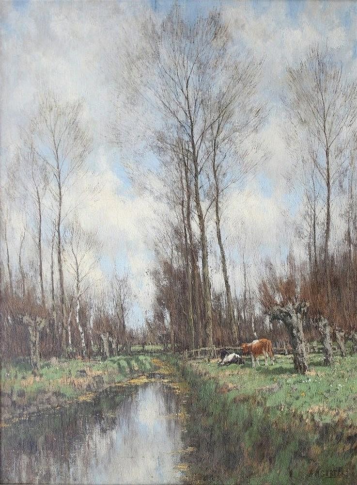 Arnold Marc Gorter (1866-1933) A little stream near Vorden. Signe