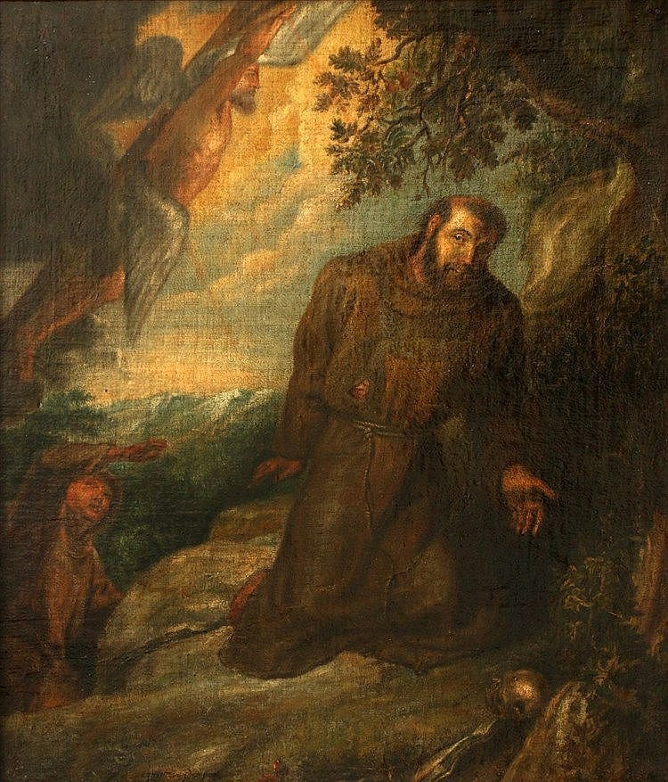 Naar Peter Paul Rubens (1577-1640) Francis of Assisi receives the