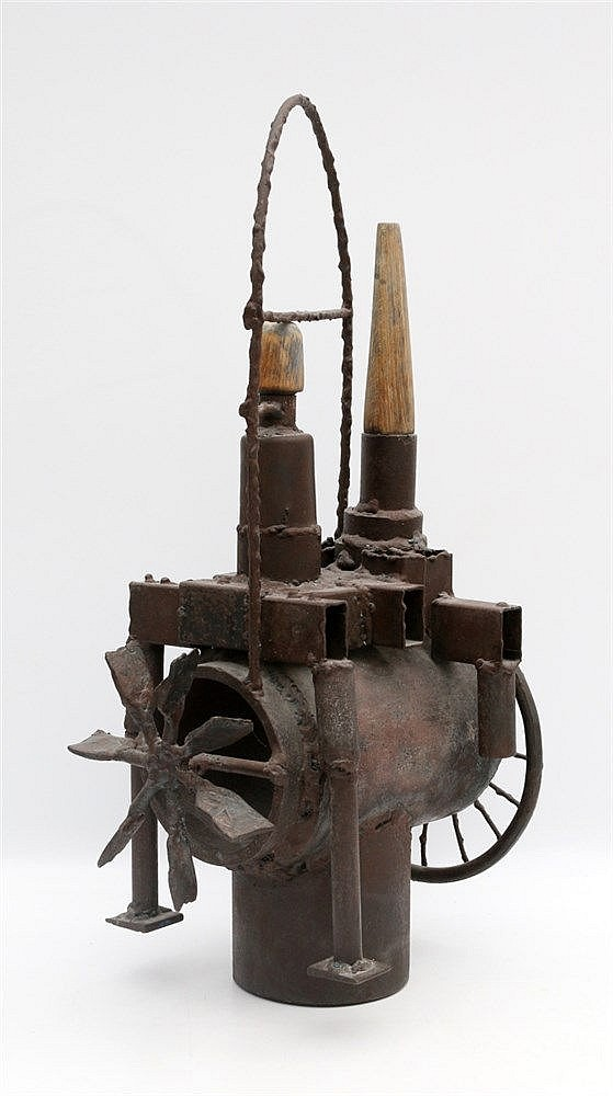 Kor Bekker (1928-1980) A metal sculpture. Machine. Unsigned. Hoo