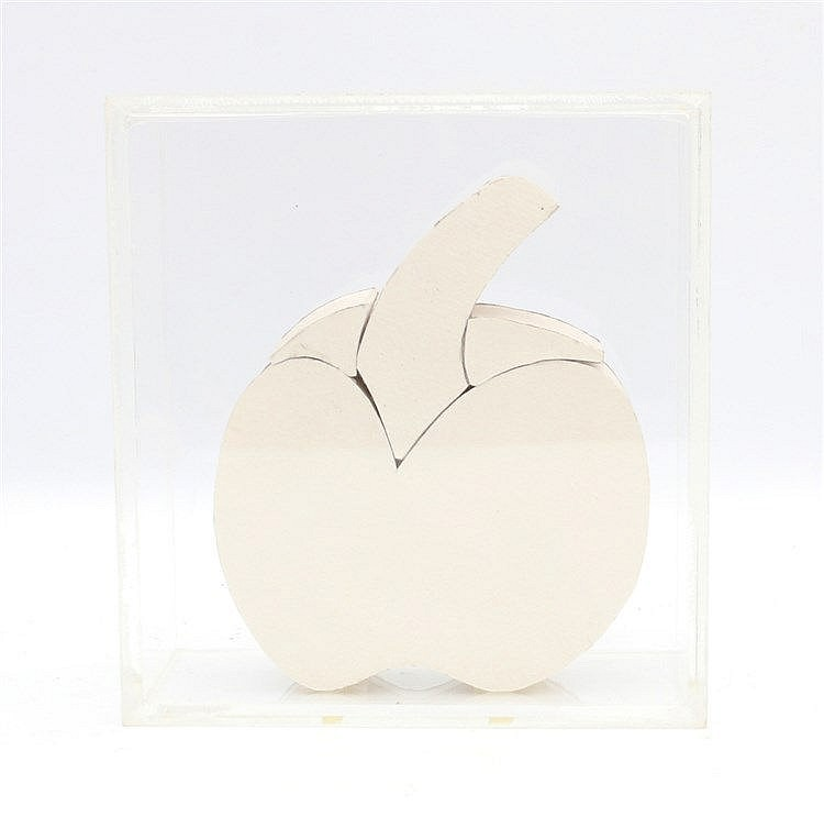 Kees Franse (1924-1982) A cardboard sculpture. An apple. Unsigned