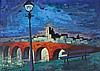 Dook Everse (1910-2005) Bridge across a river by night. Signed lo, Theodorus Everse, €0