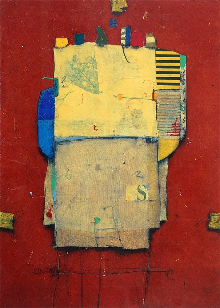 Cole Morgan (1950-) Composition. Signed and dated 1994 lower righ