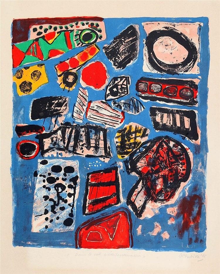 Corneille (1922-2010) 'Dans le ciel méditerranéen'. Signed and da