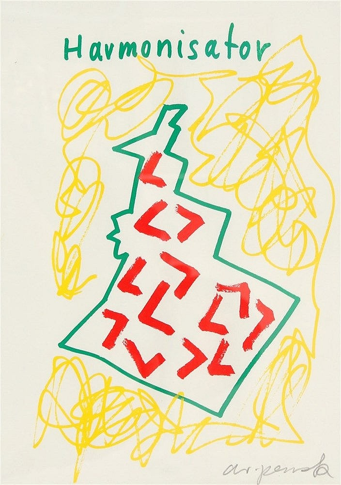 A.R. Penck (1939-) 'Harmonisator'. Signed in pencil lower right.
