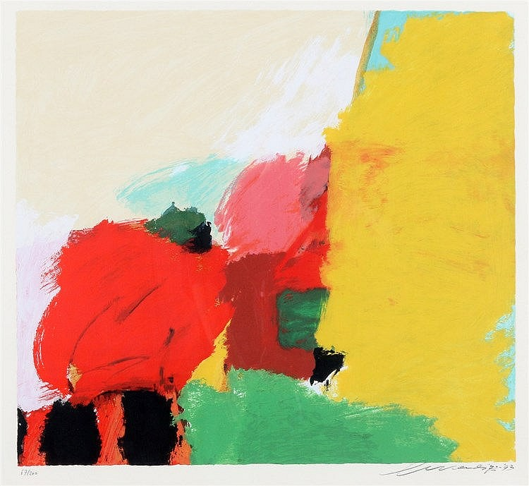 Eugene Brands (1913-2002) Colourful composition. Signed and dated