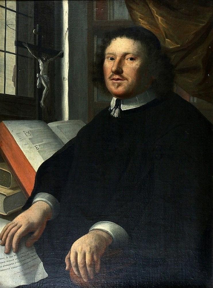 Hollandse School 17e eeuw Portrait of pastor Johannes Roose (1617