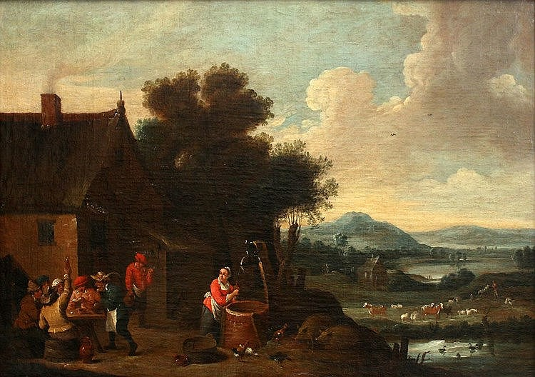 Navolger David Teniers (II) (1610-1690) Landscape with merry comp