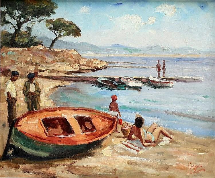 Piet Moojen (1879-1955) Costa Brava (?) Signed lower right. Vers