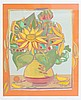 Francoise Gilot (1921-) A still life with flowers. Signed lower r, Francoise Gilot, €0
