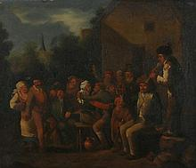 Navolger van Andries Both (1611-1642) A festive scene in front of