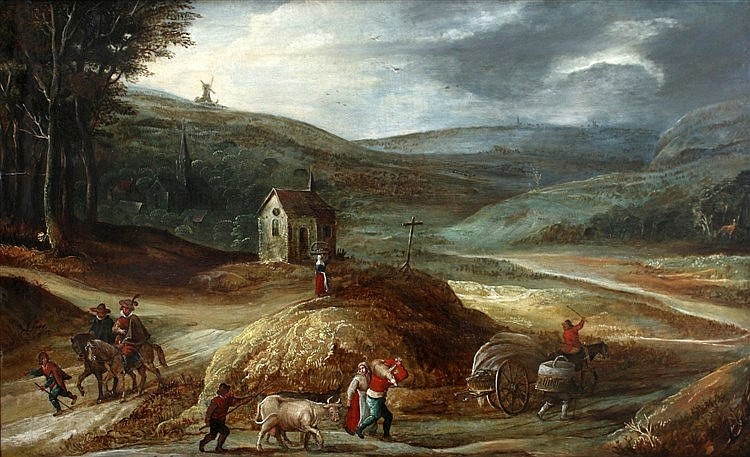 Omgeving Joos de Momper (II) (1564-1635) A mountainous landscape